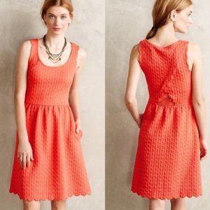 Anthropologie Coral Maeve Caye Scalloped